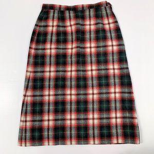 VINTAGE Pendelton Tartan Plaid Midi Skirt, Size 4